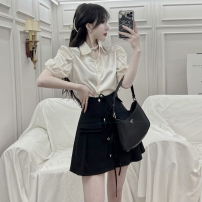 Fashion suit Summer 2021 S. M, average size Shirt, black skirt 18-25 years old four point one four