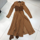 Dress Spring 2020 Black, brown S,M,L Mid length dress singleton  V-neck Solid color other routine Others 18-24 years old Other / other 1105------1230 51% (inclusive) - 70% (inclusive)