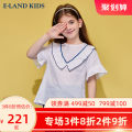 T-shirt Ivory / 39 E·LAND KIDS 110cm 120cm 130cm 140cm 150cm 160cm 165cm female summer Short sleeve Crew neck lady There are models in the real shooting nothing cotton Cotton 100% EKBAB6522R