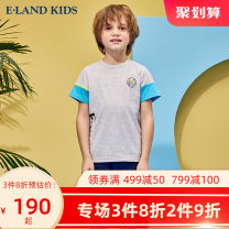 suit E·LAND KIDS grey 110cm 120cm 130cm 140cm 150cm 160cm 170cm male summer leisure time 2 pieces routine There are models in the real shooting Socket other Cotton 100%