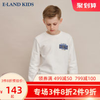Sweater / sweater E·LAND KIDS M / Grey / 18 Ivory / 39 ocher / 34 male 110cm 120cm 130cm 140cm 150cm 160cm 170cm spring and autumn nothing leisure time Socket routine There are models in the real shooting Other 100% EKMWA4902K-376977