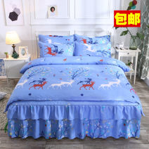 Bedding Set / four piece set / multi piece set cotton Quilting Cartoon animation 128x68 Other / other cotton 4 pieces 40 1.5m (5 ft) bed, 1.8m (6 ft) bed, 2.0m (6.6 ft) bed Sheet type, fitted sheet type, bed cover type, bed skirt type, bedspread type First Grade Countryside cotton twill