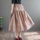 skirt Summer 2020 Average size Mid length dress Retro Umbrella skirt Type A 51% (inclusive) - 70% (inclusive) Dale hemp