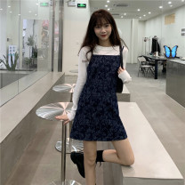 Dress Autumn 2020 S. M, average size Short skirt singleton  Sleeveless commute High waist camisole 18-24 years old Type A Korean version 30% and below