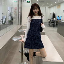Dress Autumn 2020 S. M, average size Short skirt singleton  Sleeveless commute High waist camisole 18-24 years old Type A Korean version 30% and below