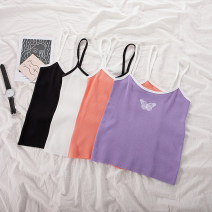 Vest sling Summer 2021 White, black, purple, orange Average size singleton  have cash less than that is registered in the accounts Self cultivation commute I-shaped Solid color 18-24 years old 51% (inclusive) - 70% (inclusive) polyester fiber