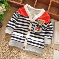 Plain coat Other / other neutral 73cm,80cm,90cm,95cm spring and autumn leisure time Single breasted No model routine nothing Cartoon animation cotton Crew neck Cotton 95% other 5%
