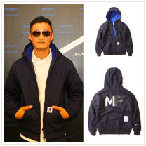 Jacket madness backstreet mdns Youth fashion navy blue M,L,XL,2XL thick easy Other leisure winter Cotton 95% other 5% Long sleeves Wear out Hood tide youth routine Zipper placket 2018 Rib hem washing Closing sleeve Solid color Plaid printing Side seam pocket cotton