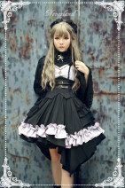 Dress Winter 2016 The construction period of purple black three piece set is less than 67 days, that of red black three piece set is less than 67 days, and that of brown black three piece set is less than 67 days S,M,L,XL Middle-skirt Sleeveless