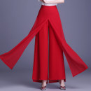 Casual pants Black, red Summer 2020 trousers Wide leg pants High waist Thin money 51% (inclusive) - 70% (inclusive)
