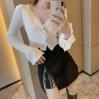 Fashion suit Autumn 2020 S. M, average size White top, black top, white skirt, black skirt 18-25 years old 0860#