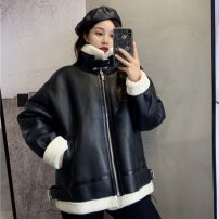 short coat Autumn 2020 40. Average size [recommended 80-115 kg], XL [recommended 115-135 kg], 2XL [recommended 135-165 kg], 3XL [recommended 165-200 kg], XXL, XXXL Brown, black Long sleeves routine singleton  easy commute 18-24 years old 31% (inclusive) - 50% (inclusive)