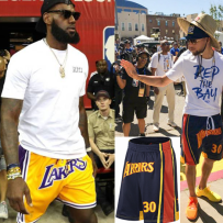 Sports pants / shorts Curry parade the Lakers James Owen white Corby James Harden Owen black Wade curry Durant 004 Sparerius muscle One hundred and ten male M L XL XXL XXXL shorts Summer of 2018 Moisture absorption, perspiration, quick drying and ventilation Frenulum Pattern letter embroidery