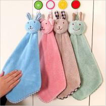 Handkerchief / handkerchief Blue rabbit Green Rabbit Pink Rabbit Brown Rabbit handkerchief - Mint elephant handkerchief - green frog handkerchief - Pink Miffy 41x25cm