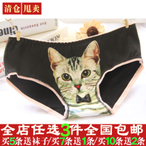 underpants female Milk shake green shrimp powder empty gift box lazy choice, random hair white light gray light blue black light yellow skin color pink light purple Average size Other / other 1 cotton Briefs low-waisted sexy Cartoon animation youth More than 95% Cotton fabric Buttock lifting bow 016