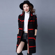 Wool knitwear Autumn 2016 155/80A,160/84A,165/88A,170/92A,175/96A Black, blue, gray black, big red, black rose red, capped green, capped red, capped gray, capped green rose red, capped black big red Long sleeves singleton  Cardigan other More than 95% Medium length routine commute easy V-neck routine