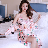Pajamas / housewear set female Sangyuan Pavilion M,L,XL,XXL Iced silk camisole sexy Sports Home spring Thin money V-neck youth 2 pieces More than 95% Polyester (polyester)