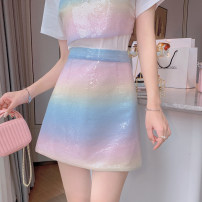 skirt Summer 2021 S,M,L Picture color Short skirt Versatile High waist skirt Decor Type A 25-29 years old DY033101 31% (inclusive) - 50% (inclusive) Other / other