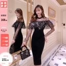 Dress Spring 2021 black S,M,L Mid length dress singleton  Long sleeves commute other High waist Solid color zipper Pencil skirt routine Others 25-29 years old Type O Other / other More than 95% other polyester fiber