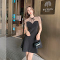 Dress Summer 2021 black S,M,L Mid length dress singleton  Sleeveless commute Crew neck High waist Solid color Socket A-line skirt other Others 25-29 years old Type A Other / other U210420 31% (inclusive) - 50% (inclusive) other