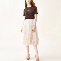 skirt Spring 2021 S M L XL Beige longuette grace Natural waist A-line skirt Solid color Type A 25-29 years old QR-BQ102314 More than 95% Chivirin other Other 100% Pure e-commerce (online only)