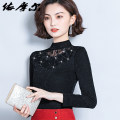 Lace / Chiffon Spring 2021 S,M,L,XL,2XL,3XL,4XL,5XL Long sleeves commute Socket singleton  Self cultivation have cash less than that is registered in the accounts Half high collar Solid color puff sleeve Korean version 51% (inclusive) - 70% (inclusive) cotton