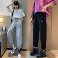 Casual pants Gray, black M. L, XL, 2XL, wholesale price from 500 pieces above 22.8 yuan Spring 2021 trousers Haren pants High waist commute Thin money 30% and below Other / other cotton Korean version pocket cotton