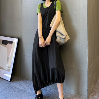Fashion suit Summer 2020 S,M,L Green T-shirt, black vest skirt, suit 18-25 years old 2020.5.11