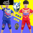 suit 2 pieces Condom elder Expression of love Gwo9i 3 years old, 4 years old, 5 years old, 6 years old, 7 years old, 8 years old, 9 years old, 10 years old Qicinant / Millennium ant summer male Cartoon animation cotton motion Thin There are models in the real shot Short sleeve + pants nothing Class B