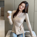 Wool knitwear Autumn of 2019 Average size Apricot, black Long sleeves singleton  Cardigan other More than 95% Regular routine commute Self cultivation V-neck routine Solid color Socket Korean version 30-34 years old Other / other
