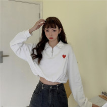 Sweater / sweater Autumn 2020 White gray blue purple black Average size Long sleeves have cash less than that is registered in the accounts Socket singleton  routine Polo collar easy street routine Solid color 18-24 years old 81% (inclusive) - 90% (inclusive) Gooseby cotton 8527#_ jiReQ zipper