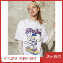 T-shirt E3 Friday Short Sleeve White S,M,L Summer 2021 Short sleeve Crew neck easy Regular routine Sweet cotton 86% (inclusive) -95% (inclusive) Cool Friday college