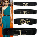 Belt / belt / chain Pu (artificial leather) female Waistband Versatile Single loop Youth, middle age, old age a hook bow 4cm alloy Bow, frosted, letter, elastic, flower Jc2114 hand paint