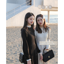 Dress Winter 2020 Magpie tail black, ivory rice, magpie tail black - pre sale, ivory rice - pre sale, [size recommendation] S,M,L longuette singleton  Long sleeves commute stand collar Solid color Socket routine Others Type H Sltown Simplicity