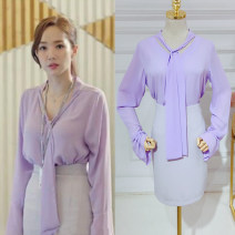Professional dress suit S,M,L,XL Shirt, skirt Summer of 2018 Long sleeves 25-35 years old 81% (inclusive) - 90% (inclusive) polyester fiber