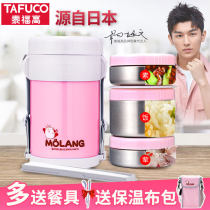 Lunch box / heat preservation bucket / heat preservation pan T-0042 Metal Chinese Mainland Tafuco / taifugao 3 layers Self made pictures 1.4L Japanese  public Cartoon