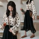 Fashion suit Autumn 2020 Average size Polka Dot Shirt, lace skirt 18-25 years old Other / other