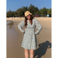Women's large Spring 2021 Large L, large XL, large XXL, large XXL Dress singleton  Sweet moderate Long sleeves routine Polyester, others routine 71% (inclusive) - 80% (inclusive) Ruili