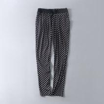 Casual pants Black bottom white dot / y + elastic waist slacks, black bottom red dot / y + elastic waist slacks EU:XS(26-27),EU:S(27-28),EU:M(28-29),EU:L(29-30),EU:XL(31-32) Autumn of 2019 trousers Natural waist routine B2643-WM8185