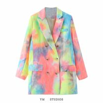 suit Autumn 2020 Picture color [27668] S,M,L Long sleeves routine easy tailored collar double-breasted street printing