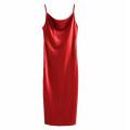 Dress Summer 2020 Black [118], dark red [118], green [118], orange [118], blue [118] S,M,L longuette singleton  Sleeveless street High waist Solid color Socket camisole Europe and America