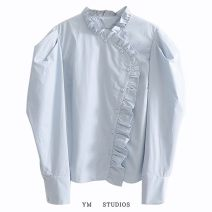 shirt Picture color [2839] S,M,L Spring 2020 cotton 51% (inclusive) - 70% (inclusive) Long sleeves street Regular Single row multi button Solid color Europe and America