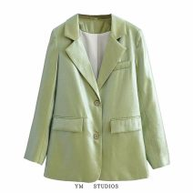 suit Autumn 2020 Picture color [385] S,M,L,XL Long sleeves routine tailored collar Single breasted street Solid color