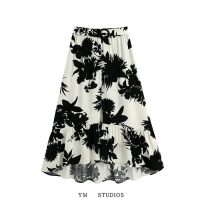skirt Summer 2020 XS,S,M,L Picture color [2574] longuette street High waist Decor 51% (inclusive) - 70% (inclusive) other printing Europe and America