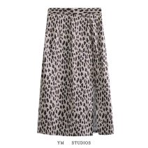 skirt Spring 2021 XS,S,M,L Decor Mid length dress street High waist A-line skirt Decor Type A More than 95% other other Europe and America