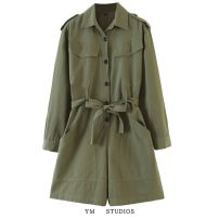 Casual pants Army green XS,S,M,L Autumn 2020 shorts Jumpsuit High waist street routine 96% and above Europe and America