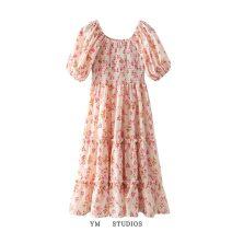 Dress Summer 2021 Decor [3509] S,M,L Mid length dress singleton  Short sleeve street Decor Socket printing Europe and America