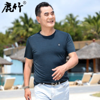 T-shirt Business gentleman Dark blue light blue grey thin 165/S 170/M 175/L 180/XL 185/XXL Deer Bamboo Short sleeve Crew neck easy Other leisure summer JSS21BJSS88208 Polyamide fiber (nylon) 66.9% polyester fiber 25.3% polyurethane elastic fiber (spandex) 7.8% middle age routine Basic public other