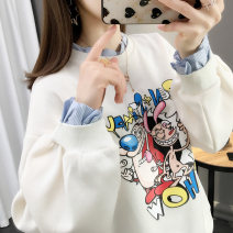 Sweater / sweater Spring 2020 S M L XL Long sleeves routine Socket Fake two pieces routine Crew neck easy commute routine Cartoon animation 25-29 years old 96% and above Chimera Korean version other S2012 Print stitching Cotton liner Other 100% Pure e-commerce (online only)