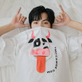 T-shirt Youth fashion White, black routine M,L,XL CHICERRO Short sleeve Crew neck easy Other leisure spring teenagers routine tide 2021 Cartoon animation printing Animal design No iron treatment